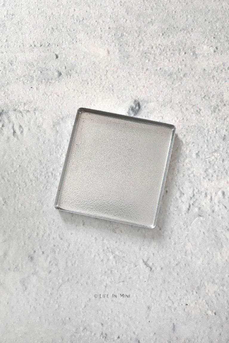 Freshly painted square pan