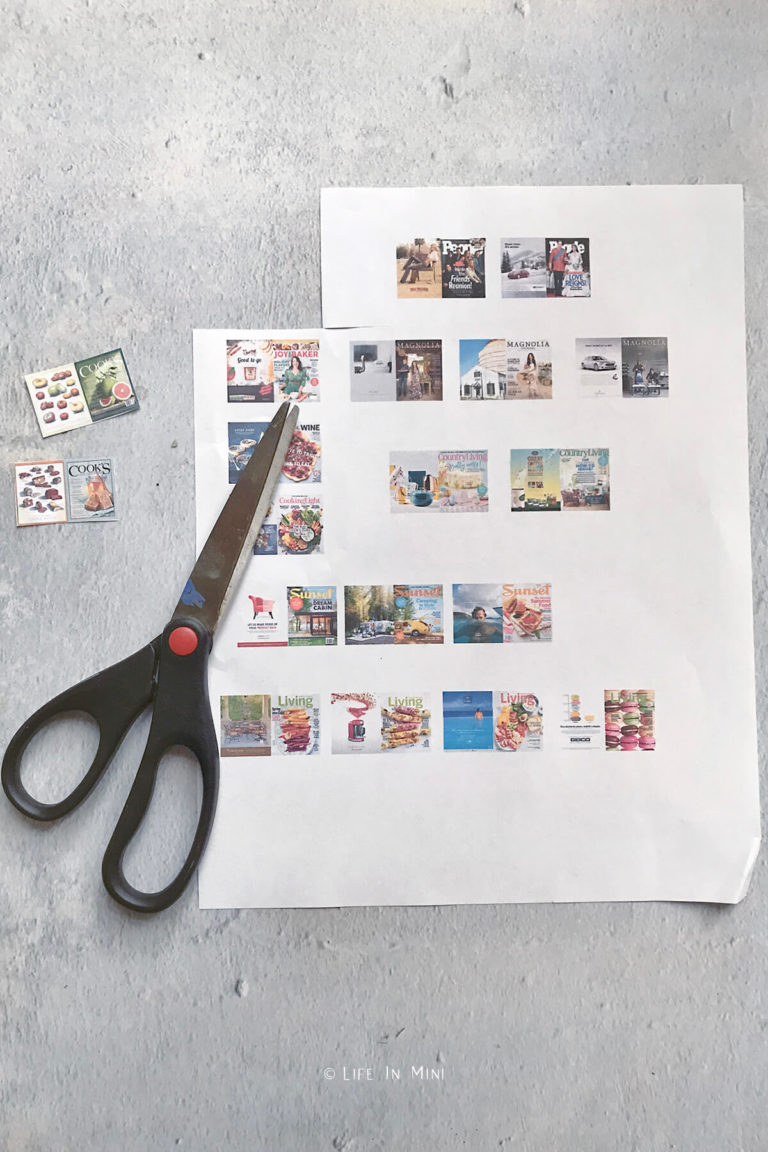 Cutting out mini magazines freshly prented