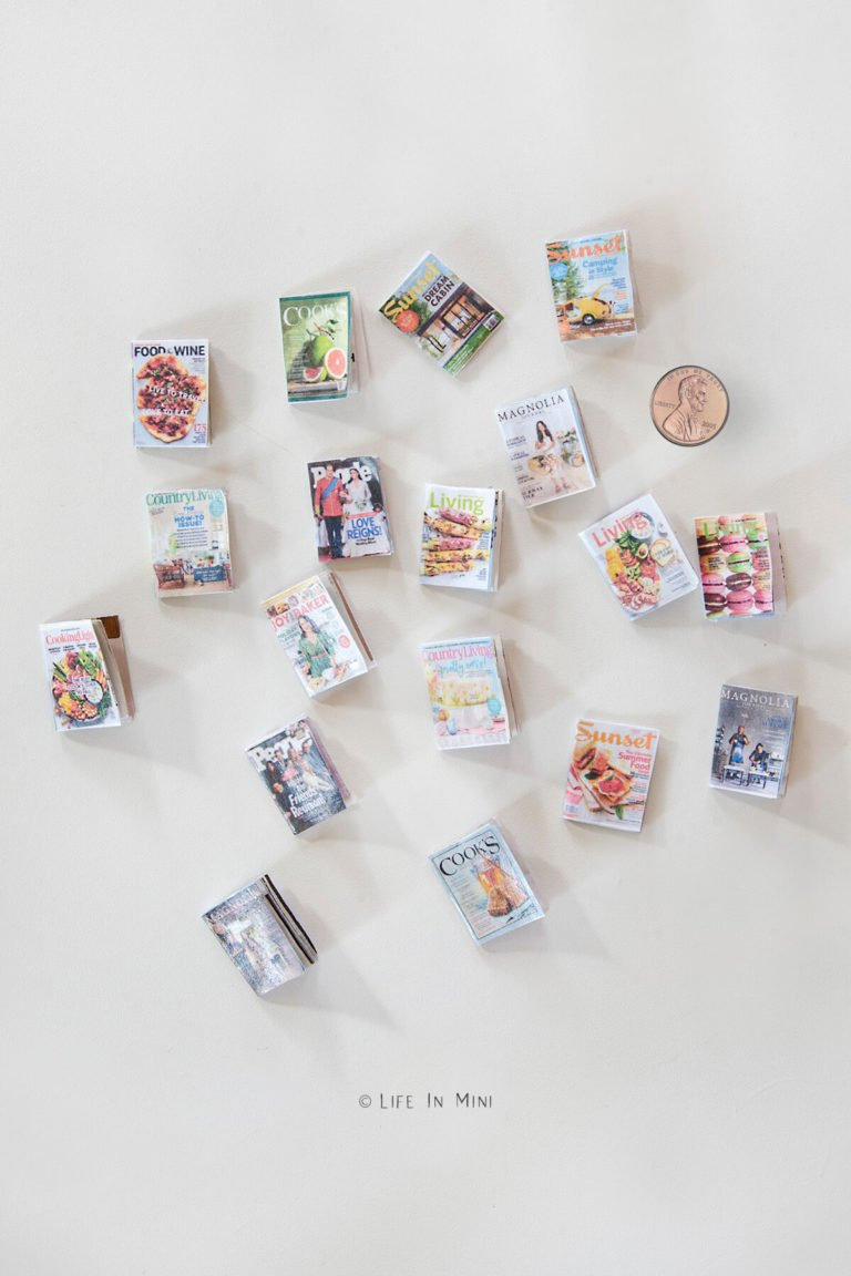 Top view of an assortment of mini magazines