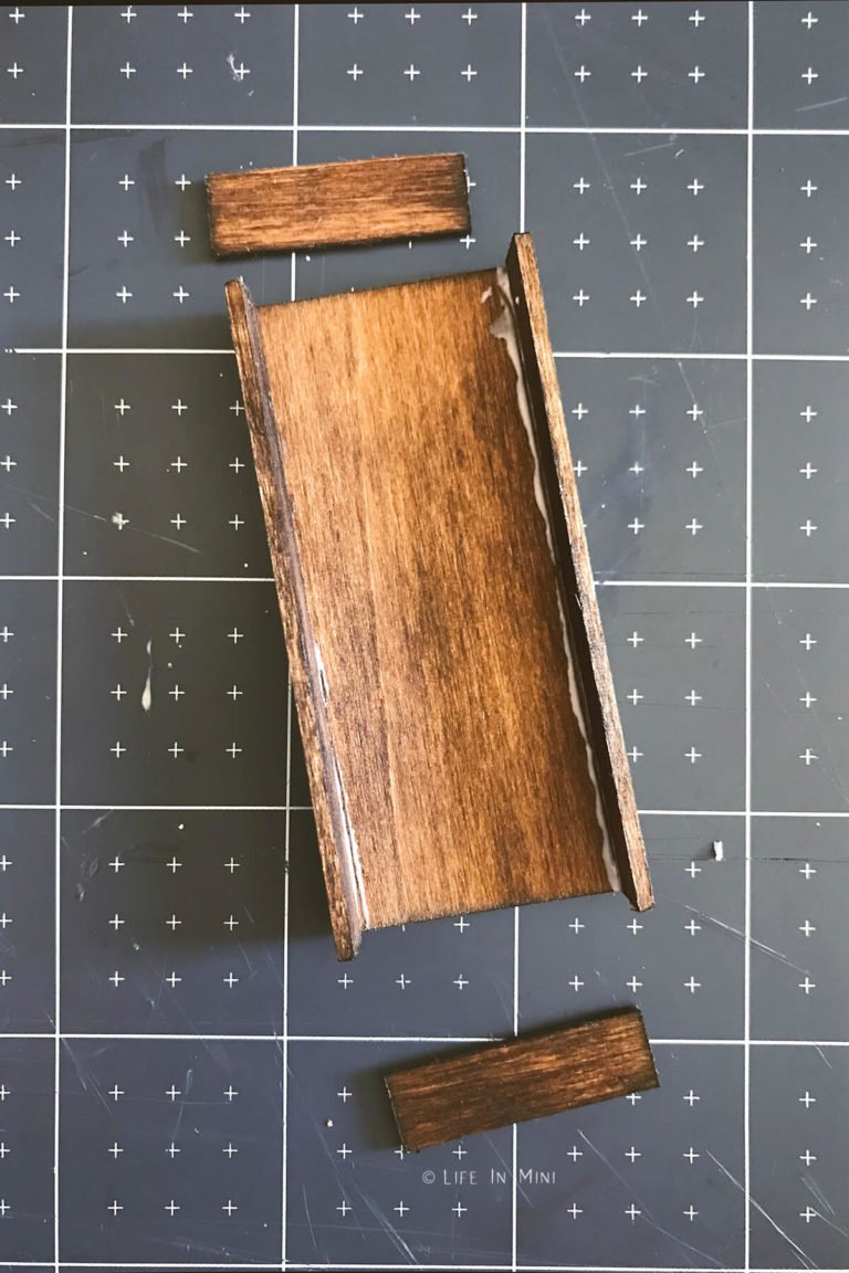 Adding sides to a rectangle piece of stained wood